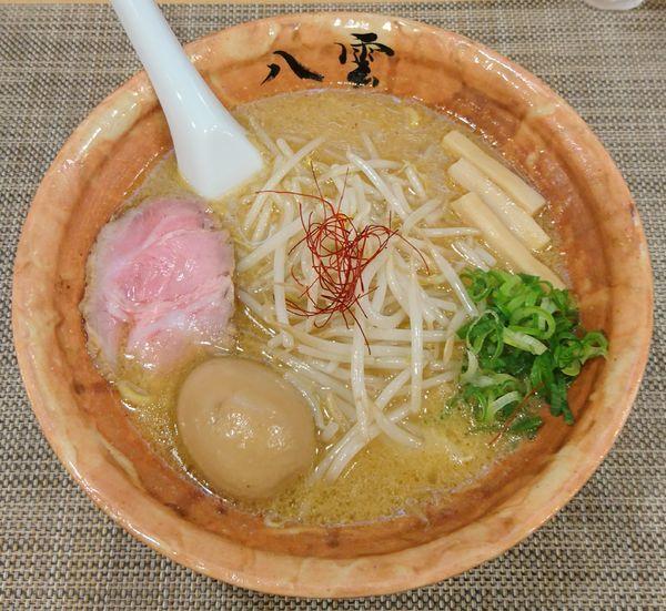 「味噌ラーメン+味付煮卵」@麺匠 八雲 本店の写真