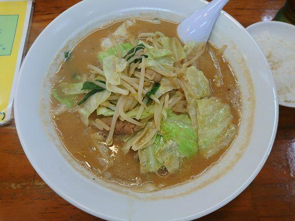 「もつ野菜ラーメン」@会津ばんだいらーめん 伊勢崎店の写真