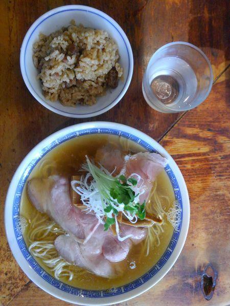 「煮干しそば830円炊き込みごはん150円」@中華そば しば田の写真