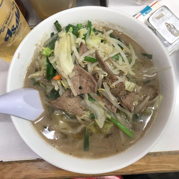 「レバニラ湯麺」@珍々軒の写真