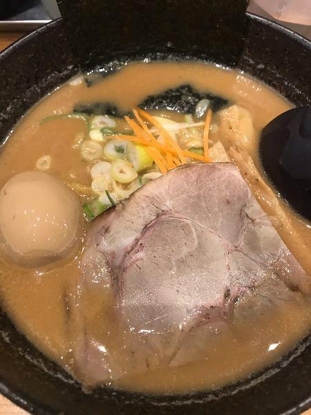 「合わせ味噌ラーメン 味付き玉子トッピング」@久楽 イオンモール北戸田店の写真