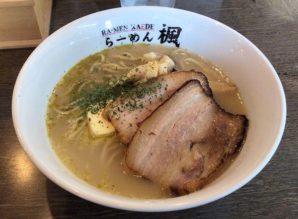 「イベリコ豚ときのこの塩バターらーめん(限定)850円」@ら〜麺 楓の写真