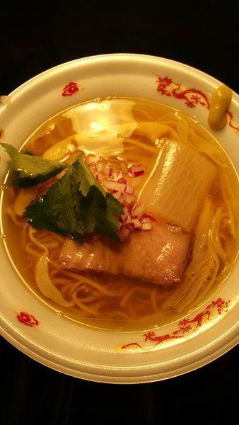 「太刀魚焙煎うるめ煮干し麺」@大つけ麺博  10周年特別企画 ラーメン日本一決定戦!!の写真