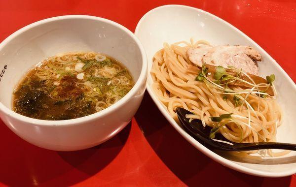 「醤油つけ麺(白¥720)」@つけめん工房 浅草製麺所の写真
