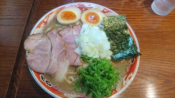 「濃厚ラーメン(豚魚Ver)+味玉」@ラーメンかなやの写真