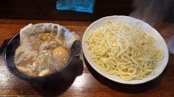 「特ポルチーニきのこつけそば(1,130円)麺多め」@麺 池谷精肉店の写真