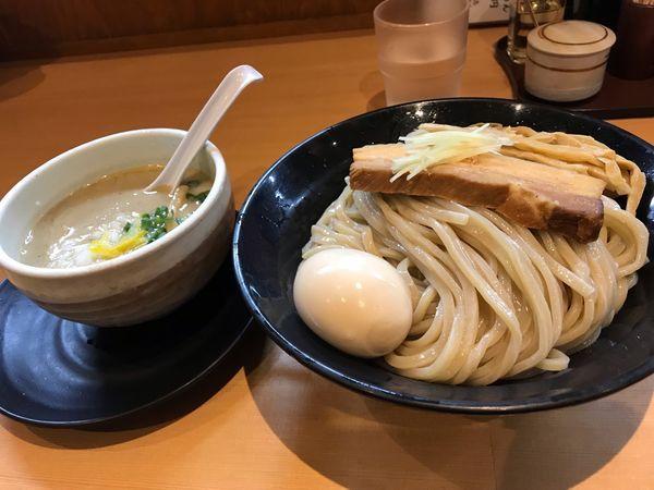 「濃厚白鶏湯つけめん+麺大盛り+特のせ」@麺堂 稲葉の写真