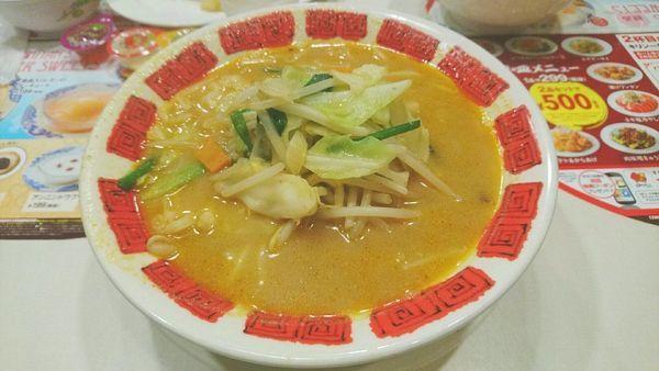 「国産野菜たっぷり味噌ラーメン」@バーミヤン 新宿西口大ガード店の写真