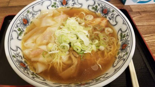 「ワンタン麺 並 あっさり」@丸山中華蕎麦店の写真