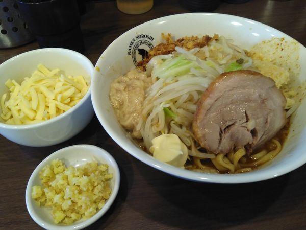 「汁なし¥750+チーズ¥120+カレー¥50」@RAMEN NOROSHI 東大宮の写真