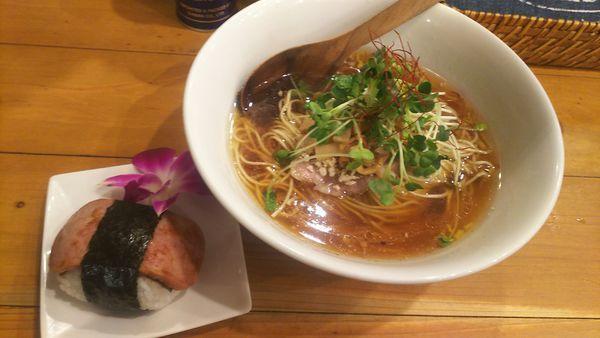 「醤油SOBAスパムセット  1,000円」@麺屋 Hulu-luの写真