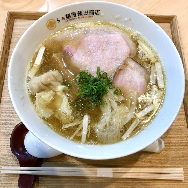 「わんたん入りにぼしらぁ麺 ¥1050」@らぁ麺 飯田商店の写真