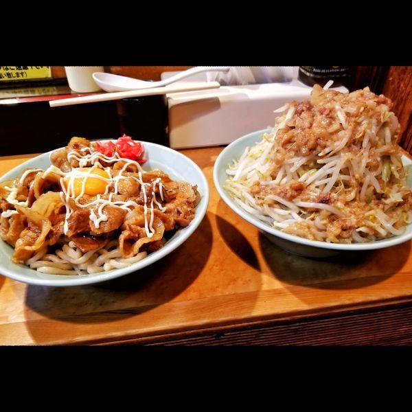 「DXマシライス極太麺変更」@立川マシマシ ロイヤルスープの写真