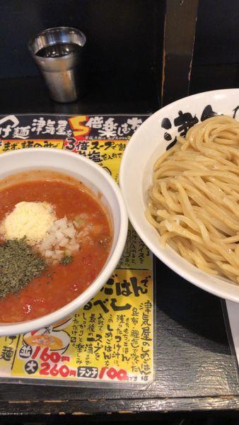 「トマトつけ麺(大盛)」@つけ麺 津気屋 川口店の写真