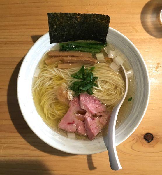 「今宵の酒(ひやおろし鶴亀)→チャーシューハーフ盛+らぁ麺・塩」@麺屋 さくら井の写真