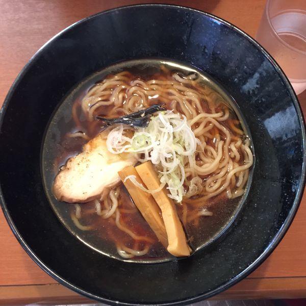 「鶏にぼし(あっさり)中太麺 600円」@はなびやの写真