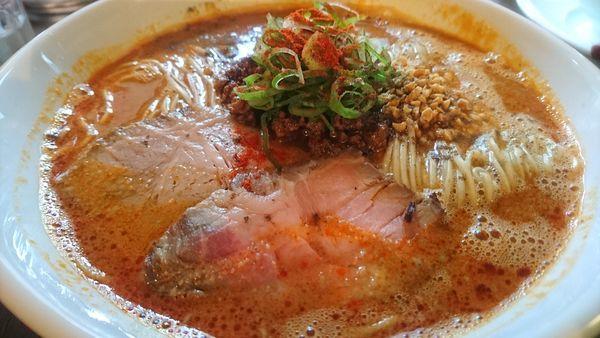 「担々麺(大盛)+チャーシュー半増し」@麺庵ちとせの写真