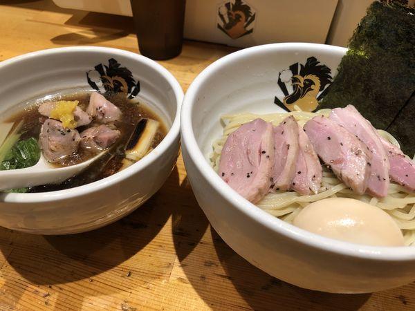 「特製鴨中華つけそば+鴨雑炊丼(小)」@満鶏軒の写真