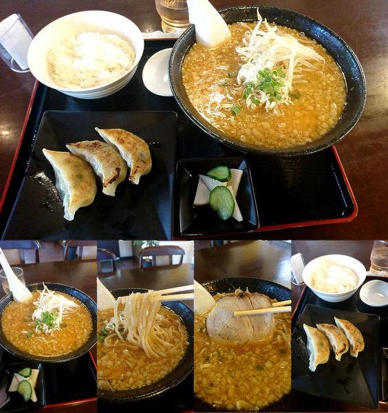 「味噌+こってり+ギョーザセット(¥800+100+200)」@麺屋 きた村の写真