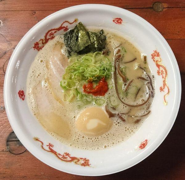 「豚骨ラーメン+煮卵」@大つけ麺博  10周年特別企画 ラーメン日本一決定戦!!の写真