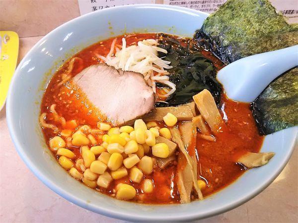 「からし麺(中辛)¥770+ライス¥0」@ラーメン菱和 上大岡店の写真