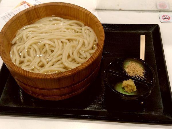 「釜揚げうどん(大盛)390円→190円」@丸亀製麺 イーサイト高崎店の写真