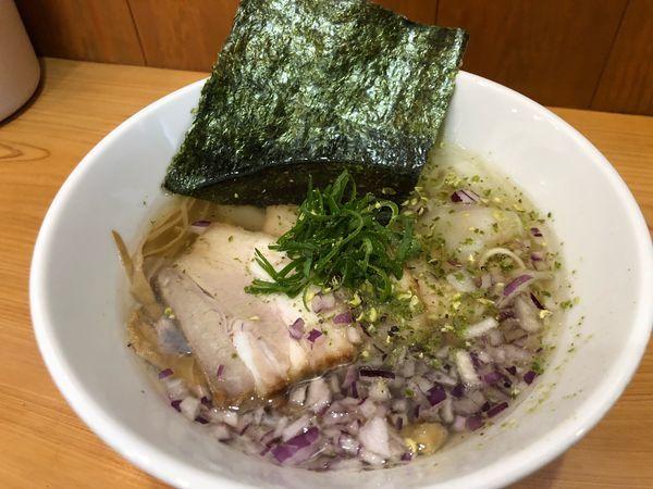 「ワンタン山椒塩中華そば880円」@麺喰屋 澤 徳島店の写真