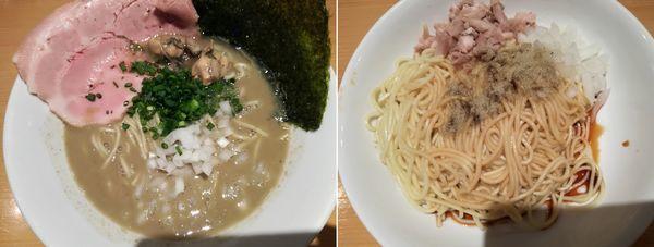 「濃厚牡蠣煮干中華そば+替え玉」@麺屋 まほろ芭の写真