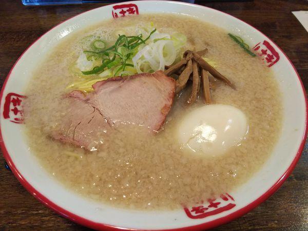 「【限定】塩そば (大盛り) +味玉:サービス券」@信州麺屋 きまはち商店の写真