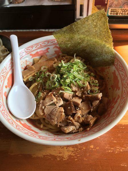 「汁なしにぼそば+野菜(760円+100円)」@にぼ神 角ふじの写真