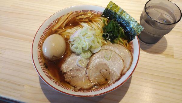 「必道そば(大盛)+味玉+特性トッピング」@麺屋 必道の写真