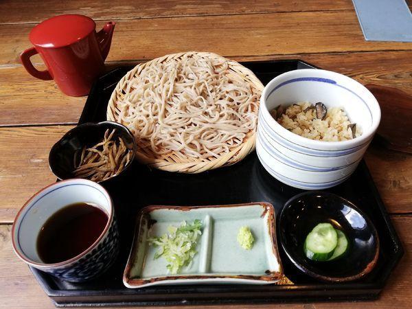 「もり蕎麦と季節のご飯セット」@そば処 アルプスの写真