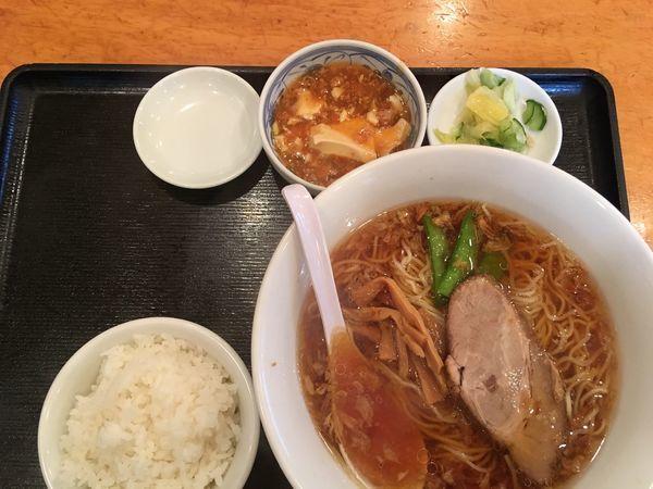 「ランチ定食(醤油)」@香湯ラーメン ちょろり 恵比寿店の写真