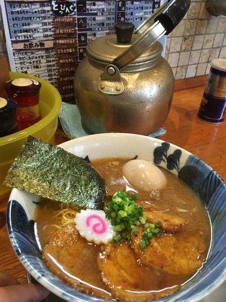 「八豚ちゃ〜しゅー麺➕味玉」@麺屋 湯や軒の写真