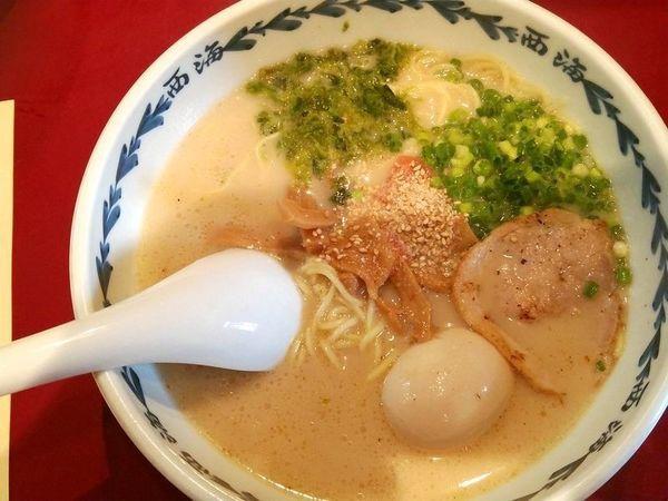 「西海+味玉」@らーめん西海 高尾駅前店の写真