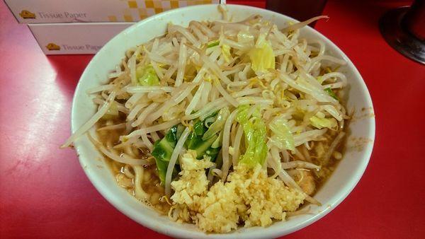 「小豚ラーメン(麺少なめ硬め・ニンニク)」@ラーメン二郎 仙台店の写真