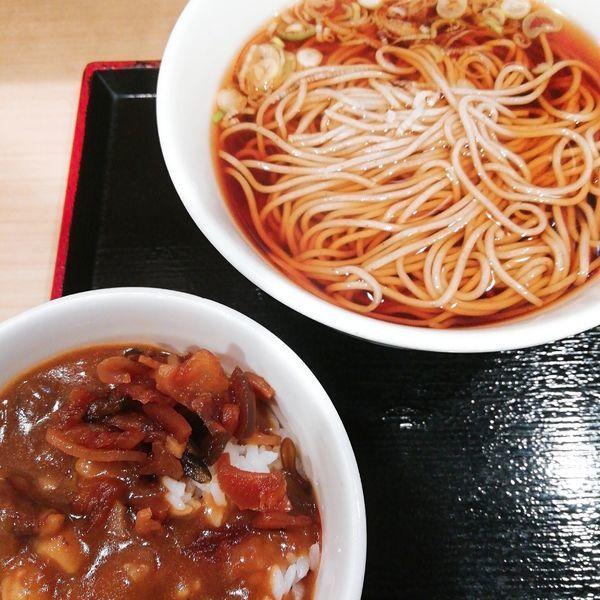 「ミニカレー丼セット(温)」@いろり庵きらく 浦和店の写真