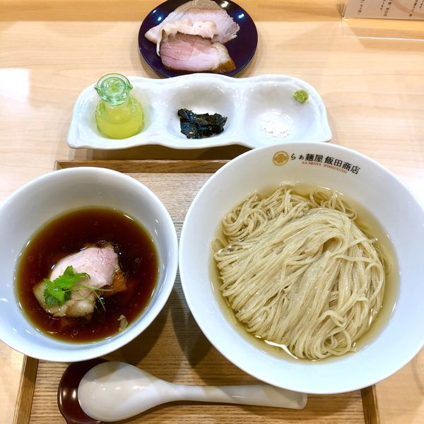 「つけ麺 (濃厚昆布鰹水出汁) 1000 +チャーシュー300」@らぁ麺 飯田商店の写真