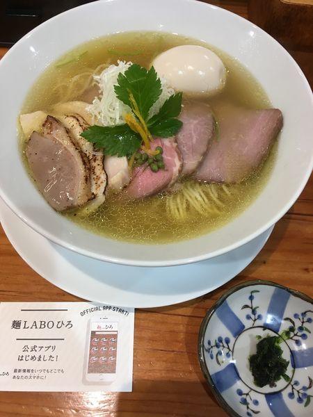 「LABO鶏そば(塩)」@麺LABOひろの写真