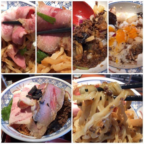 「【限定】秋の贅沢まぜそば 温玉ご飯付1500円」@拳ラーメンの写真