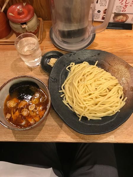 「辛味つけ麺 780円 中盛り330g」@つけ麺屋 やすべえ 新宿店の写真