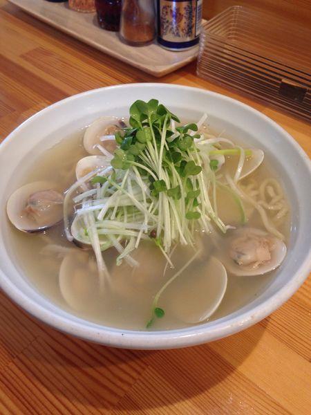「極上はまぐり潮麺 850円」@店内製麺 さくらの写真