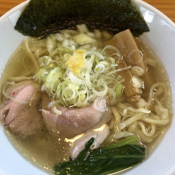 「塩そば(平打ち麺)」@二代目 村岡屋の写真