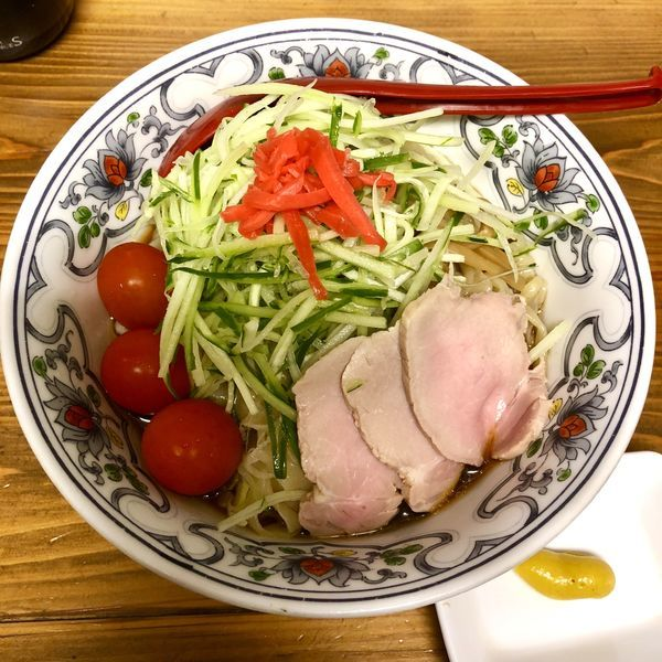 「【限定】冷やし中華¥800+肉増し¥100」@くじら食堂の写真