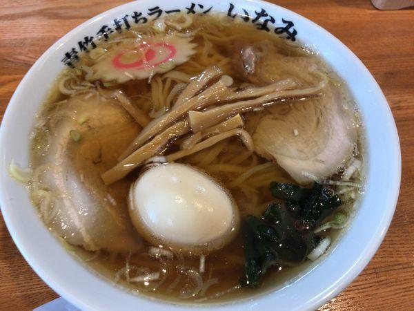 「ラーメン650円+味玉100円」@青竹手打ちラーメン いなみの写真