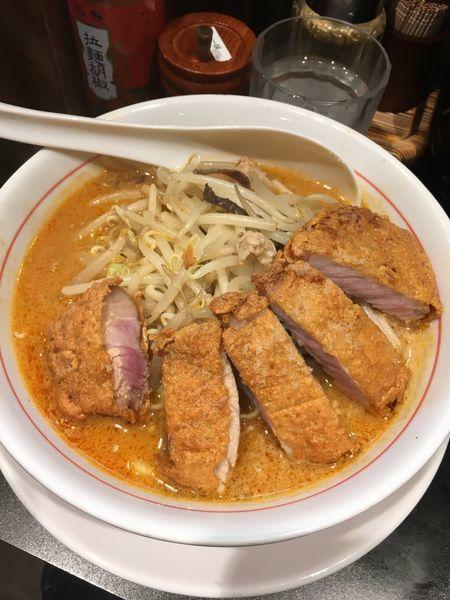 「豚カツラーメン」@味噌ラーメン専門店 味噌太善の写真