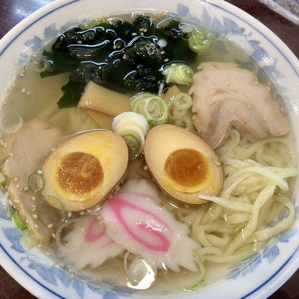 「塩ラーメン+味玉」@手打ちラーメン 恒の写真