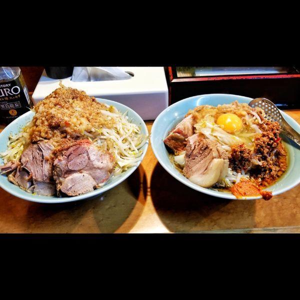 「小ラーメン、汁なし」@立川マシマシ ロイヤルスープの写真