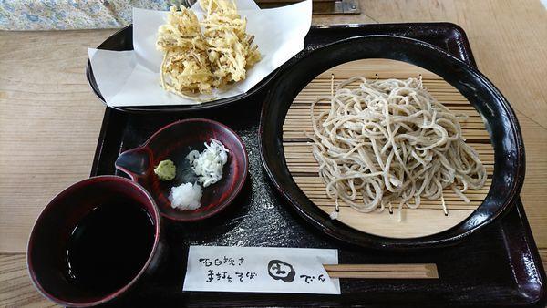 「せいろ+ごぼう天ぷら(350円)=1200円」@いなかそば 田の写真