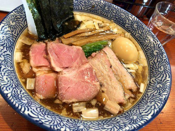 「特製手揉み中華蕎麦(醤油)」@麺処 ほん田の写真